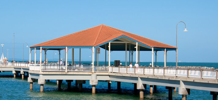 Redcliffe QLD Jetty on a clear sunny day