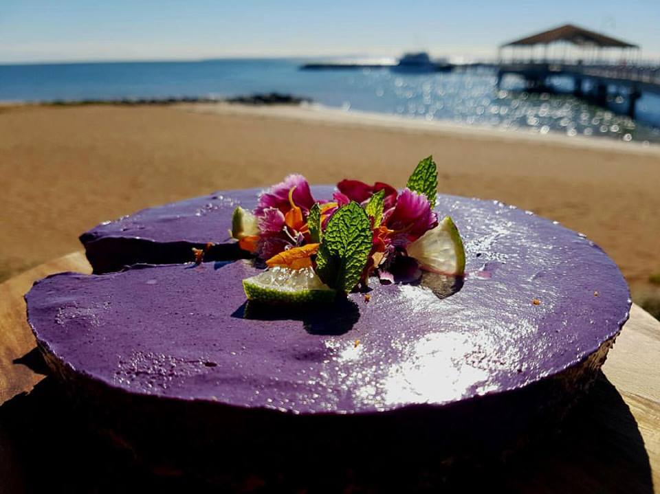 Oasis Cafe Lime, blueberry cake