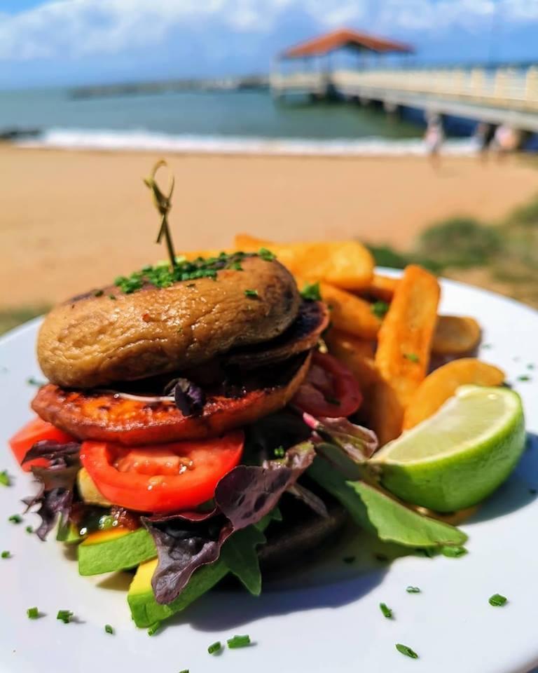 Oasis Cafe bunless vegan burger