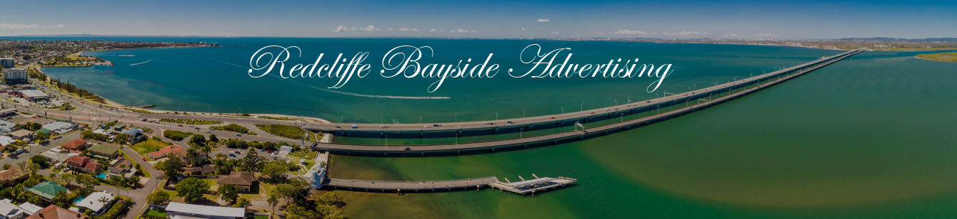 Aerial view of Houghton Bridges, connecting the Redcliffe Peninsula to the mainland in QLD Australia
