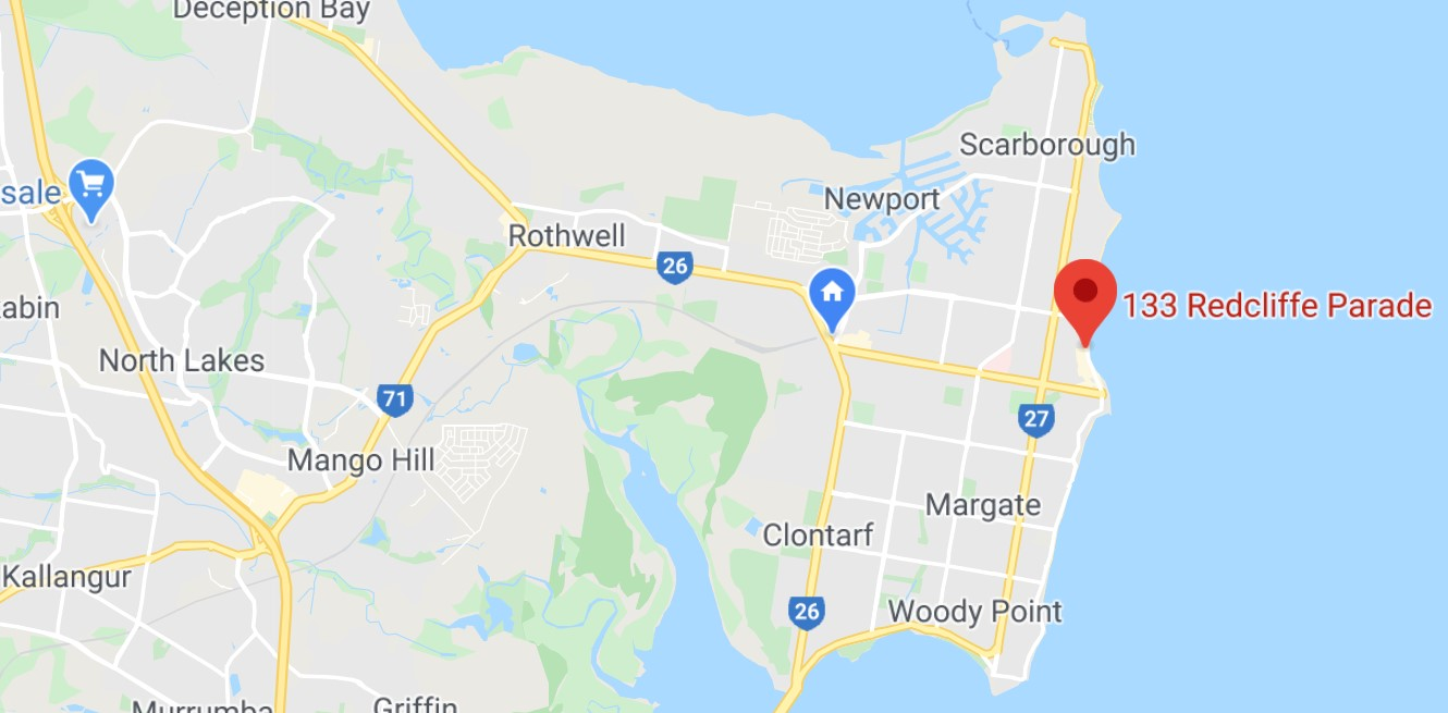 Redcliffe map