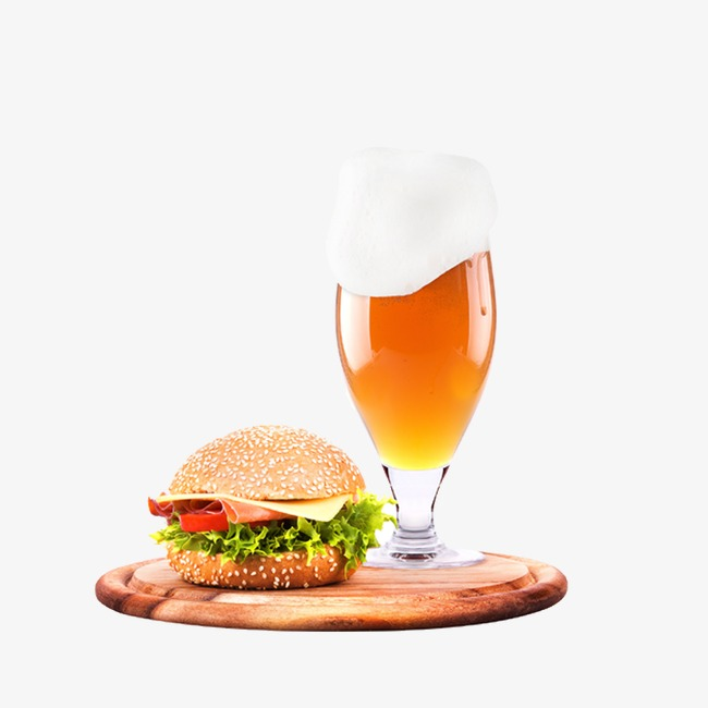 food and beer, burger and beer