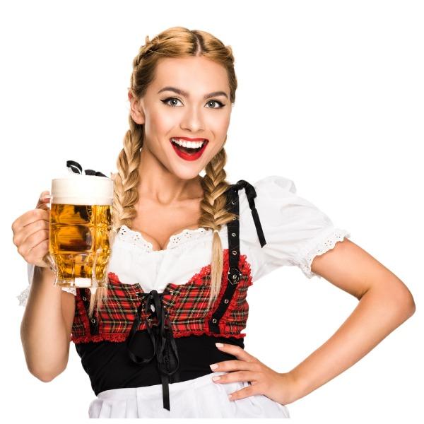Fraulein2 Holding Beer Stein