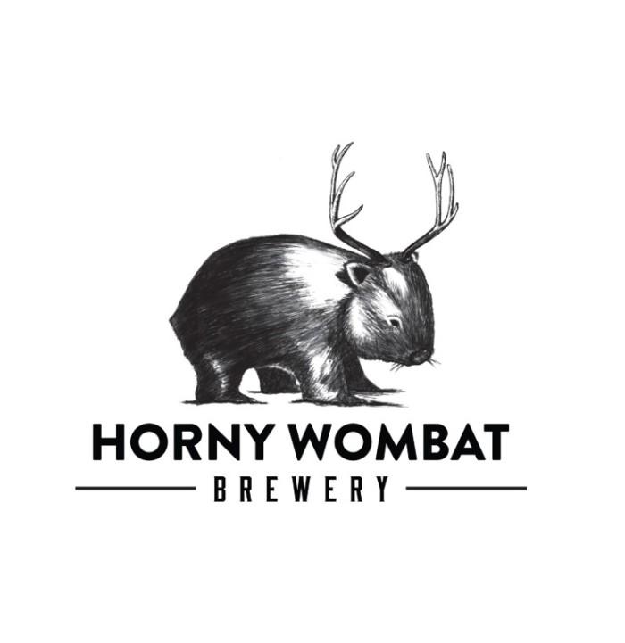 Horny Wombat brewery logo