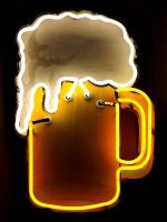 beer up in lights